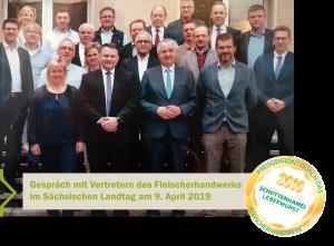 Gespräch im Sächsischen Landtag